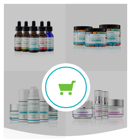 products image - CBD & hemp oil products, medical grade skin care & wellness coaching